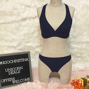 Tory Sport Two-Piece Navy Blue Bikini Sz M NWT